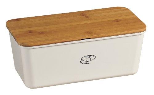 kesper 18090 brotbox melamin bambus weiss - Kesper 18090 Brotbox Melamin Bambus, weiß