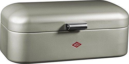 wesco 235201 03 brotkasten grandy 42 x 23 x 17 cm neusilber - Wesco 235201-03 Brotkasten Grandy, 42 x 23 x 17 cm, neusilber